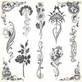 Set of flowers in vintage style Royalty Free Stock Images