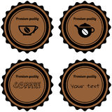 Set of  coffee stamps Royalty Free Stock Photo