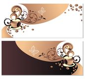 Set of coffee,tea banners Royalty Free Stock Photos