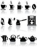 Set of coffee and tea icons Stock Photos