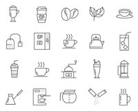 Set of Coffee and Tea line vector icons. vector illustration
