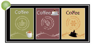 Set of coffee vector banners Stock Images