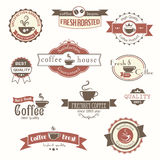 Set of coffee vintage badges and labels. Eps8 Royalty Free Stock Photography