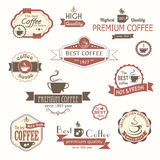 Set of coffee vintage badges and labels. Eps8 Royalty Free Stock Photos