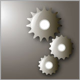 Set of cog-wheels in the  Stock Photography