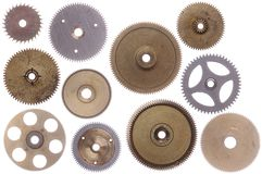 Set of cog-wheels Royalty Free Stock Photos