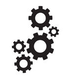 Set of cogs. A set of black cogs Royalty Free Stock Photography
