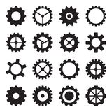 Set of cogwheels, pinions and gears Stock Photography