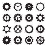 Set cogwheels, pinions i przekładnie, Fotografia Stock