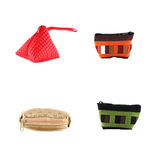 Set of coin purse on isolated white background Royalty Free Stock Photo