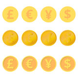 Set of coins Stock Photography