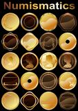 Set of coins. (Vector) Stock Images