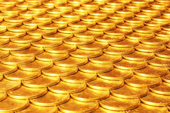 Set of coins from yellow metal Stock Photo