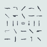Set of cold arms icons Stock Photos