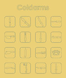 Set of cold arms simple icons Royalty Free Stock Photo
