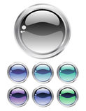 Set of cold buttons Royalty Free Stock Photos