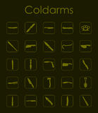 Set of coldarms simple icons Royalty Free Stock Image