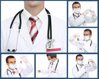 Set (collage) of doctor Royalty Free Stock Photos
