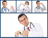 Set (collage) of doctor Royalty Free Stock Photography