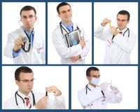 Set (collage) of doctor Stock Photos