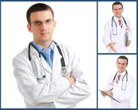 Set (collage) of doctor Stock Photography