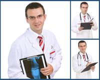 Set (collage) of doctor Stock Images