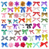 Set of collection bows multi-colored Stock Photography