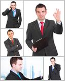 Set (collection) of  businessman.  Isolated over white . Set (collection) of european businessman.  Isolated over white background Royalty Free Stock Photos