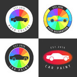 Set, collection of car paint, car parts vector icon, symbol, sign, logo Royalty Free Stock Photos