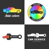 Set, collection of car paint, car parts vector icon, symbol, sign, logo Stock Photos