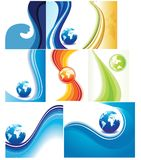 Set of collection colorful set wave Stock Images