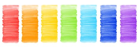 Collection of colorful watercolor banner backgrounds Stock Images