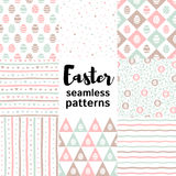 Set, collection of Easter seamless vector patterns vector illustration
