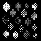 Set collection of the endless knots Stock Image
