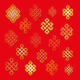 Set collection of the endless knots, palbeu Stock Images