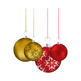 Set collection garlands christmas holding with snowflakes ornaments Stock Images