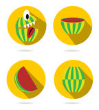 Set, collection, group of four isolated, flat royalty free illustration