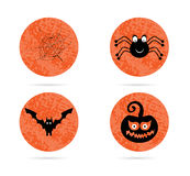 Set, collection, group of four, orange, halloween Royalty Free Stock Photo