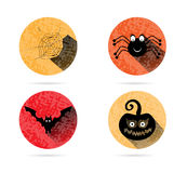 Set, collection, group of four, orange, halloween Royalty Free Stock Photography