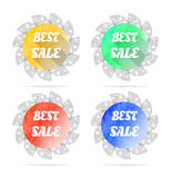 Set, collection, group of four round, isolated Royalty Free Stock Photography