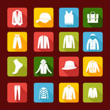 Set with collection of  men clothing  - Illustration Royalty Free Stock Photography