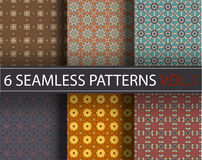 Set, collection, pack universal vector seamless patterns, tiling. Geometric ornaments. Royalty Free Stock Images