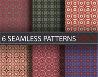 Set, collection, pack universal vector seamless patterns, tiling. Geometric ornaments. Stock Photo