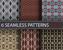 Set, collection, pack universal vector seamless patterns, tiling. Geometric ornaments. stock images