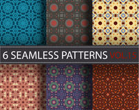 Set, collection, pack universal vector seamless patterns, tiling. Geometric ornaments. Stock Photography