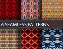 Set, collection, pack universal vector seamless patterns, tiling. Geometric ornaments. stock photos