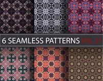 Set, collection, pack universal vector seamless patterns, tiling. Geometric ornaments. Stock Image