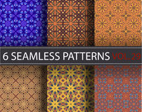 Set, collection, pack universal vector seamless patterns, tiling. Geometric ornaments. Royalty Free Stock Image