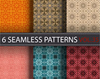 Set, collection, pack universal vector seamless patterns, tiling. Geometric ornaments. Royalty Free Stock Photo