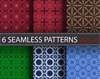 Set, collection, pack universal vector seamless patterns, tiling. Geometric ornaments. Royalty Free Stock Photos